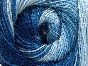 Fiber Content 60% Acrylic, 20% Angora, 20% Wool, Brand ICE, Blue Shades, Yarn Thickness 2 Fine  Sport, Baby, fnt2-59755