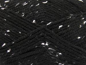 Fiber Content 95% Acrylic, 5% Viscose, White, Brand ICE, Black, fnt2-59760