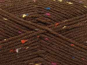Fiber Content 95% Acrylic, 5% Viscose, Rainbow, Brand ICE, Brown, fnt2-59762
