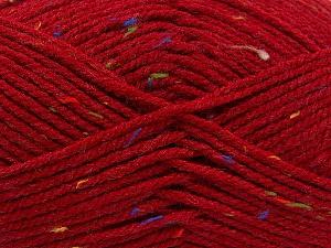 Fiber Content 95% Acrylic, 5% Viscose, Red, Rainbow, Brand ICE, fnt2-59765