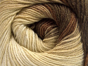 Fiber Content 70% Acrylic, 30% Merino Wool, Brand ICE, Cream, Brown Shades, fnt2-59769