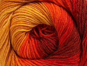 Fiber Content 70% Acrylic, 30% Merino Wool, Yellow, Red, Orange, Brand ICE, Gold, fnt2-59773
