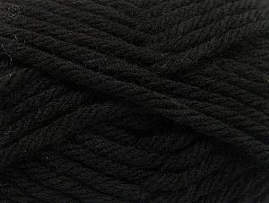 Fiber Content 100% Acrylic, Brand ICE, Black, Yarn Thickness 6 SuperBulky  Bulky, Roving, fnt2-59788