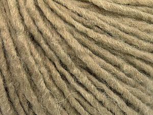 Fiber Content 50% Acrylic, 50% Wool, Brand ICE, Dark Beige, fnt2-59804
