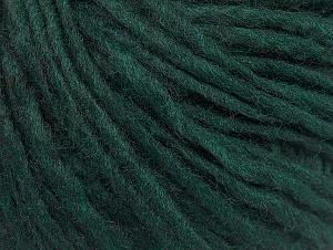 Fiber Content 50% Acrylic, 50% Wool, Brand ICE, Dark Green, fnt2-59810