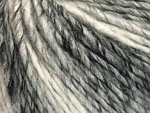 Fiber Content 50% Wool, 50% Acrylic, White, Brand ICE, Grey Shades, fnt2-59840