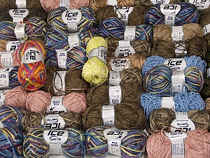 Summer Yarns This mixed lot includes a total of 2000 gr (70.5 oz.) yarn. There is no standard for ball weight. Also disregard any information on the labels. You will get what you see in the photo. Brand ICE, fnt2-59888