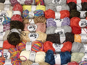 Summer Yarns This mixed lot includes a total of 2000 gr (70.5 oz.) yarn. There is no standard for ball weight. Also disregard any information on the labels. You will get what you see in the photo. Brand ICE, fnt2-59895