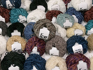 Chenille Types This mixed lot includes a total of 2000 gr (70.5 oz.) yarn. There is no standard for ball weight. Also disregard any information on the labels. You will get what you see in the photo. Brand ICE, fnt2-59905