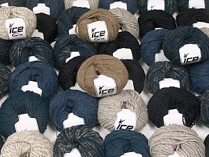 Winter Yarns This mixed lot includes a total of 2000 gr (70.5 oz.) yarn. There is no standard for ball weight. Also disregard any information on the labels. You will get what you see in the photo. Brand ICE, fnt2-59912