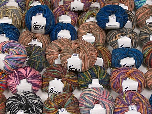 Fancy Yarns This mixed lot includes a total of 2000 gr (70.5 oz.) yarn. There is no standard for ball weight. Also disregard any information on the labels. You will get what you see in the photo. Brand ICE, fnt2-59923