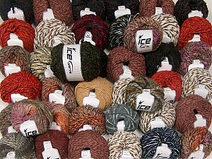 Winter Yarns This mixed lot includes a total of 2000 gr (70.5 oz.) yarn. There is no standard for ball weight. Also disregard any information on the labels. You will get what you see in the photo. Brand ICE, fnt2-59933