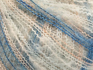 Fiber Content 37% Kid Mohair, 35% Acrylic, 28% Polyamide, White, Light Salmon, Brand ICE, Blue, Yarn Thickness 1 SuperFine  Sock, Fingering, Baby, fnt2-59958