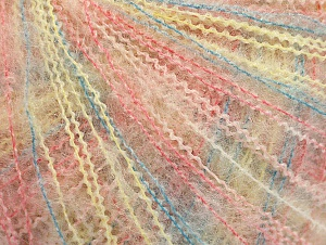 Fiber Content 37% Kid Mohair, 35% Acrylic, 28% Polyamide, Yellow, Pink, Brand ICE, Blue, Yarn Thickness 1 SuperFine  Sock, Fingering, Baby, fnt2-59974