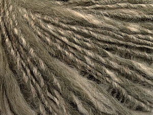 Fiber Content 40% Acrylic, 35% Wool, 25% Alpaca, Light Khaki, Brand ICE, Beige, Yarn Thickness 3 Light  DK, Light, Worsted, fnt2-60075