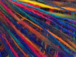Fiber Content 60% Acrylic, 40% Wool, Rainbow, Brand ICE, Yarn Thickness 3 Light  DK, Light, Worsted, fnt2-60082