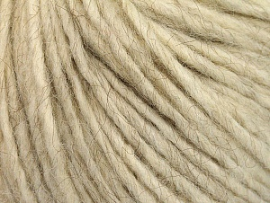 Fiber Content 50% Merino Wool, 25% Alpaca, 25% Acrylic, Brand ICE, Cream melange, Yarn Thickness 4 Medium  Worsted, Afghan, Aran, fnt2-60090