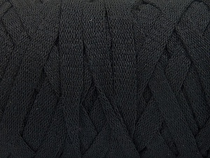Fiber Content 100% Recycled Cotton, Brand ICE, Black, Yarn Thickness 6 SuperBulky  Bulky, Roving, fnt2-60121