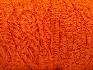 Fiber Content 100% Recycled Cotton, Orange, Brand ICE, Yarn Thickness 6 SuperBulky  Bulky, Roving, fnt2-60125