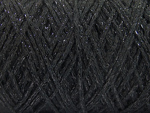 Fiber Content 90% Cotton, 10% Metallic Lurex, Brand ICE, Black, fnt2-60132