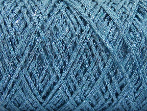 Fiber Content 90% Cotton, 10% Metallic Lurex, Light Blue, Brand ICE, fnt2-60137