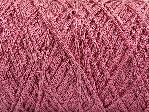 Fiber Content 90% Cotton, 10% Metallic Lurex, Light Pink, Brand ICE, fnt2-60139