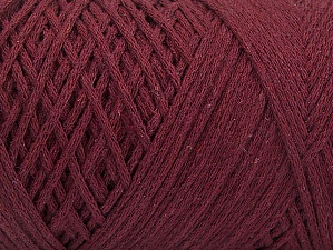 Fiber Content 100% Cotton, Brand ICE, Burgundy, Yarn Thickness 4 Medium  Worsted, Afghan, Aran, fnt2-60151