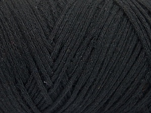 Fiber Content 100% Cotton, Brand ICE, Black, Yarn Thickness 5 Bulky  Chunky, Craft, Rug, fnt2-60159