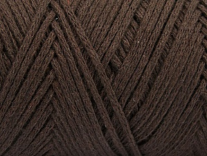 Fiber Content 100% Cotton, Brand ICE, Dark Brown, Yarn Thickness 5 Bulky  Chunky, Craft, Rug, fnt2-60161
