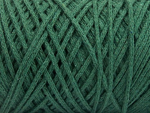 Fiber Content 100% Cotton, Brand ICE, Dark Green, Yarn Thickness 5 Bulky  Chunky, Craft, Rug, fnt2-60167