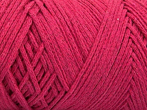 Fiber Content 100% Cotton, Brand ICE, Fuchsia, Yarn Thickness 5 Bulky  Chunky, Craft, Rug, fnt2-60170