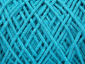 Fiber Content 100% Cotton, Turquoise, Brand ICE, Yarn Thickness 5 Bulky  Chunky, Craft, Rug, fnt2-60175