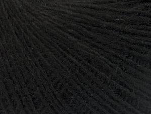 Fiber Content 50% Merino Wool, 25% Alpaca, 25% Acrylic, Brand ICE, Black, Yarn Thickness 2 Fine  Sport, Baby, fnt2-60195