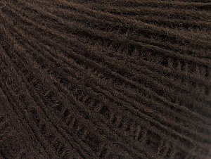 Fiber Content 50% Acrylic, 50% Wool, Brand ICE, Dark Brown, Yarn Thickness 2 Fine  Sport, Baby, fnt2-60197