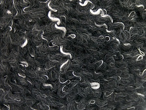 Fiber Content 30% Polyamide, 30% Acrylic, 20% Mohair, 20% Wool, Brand ICE, Black, fnt2-60206