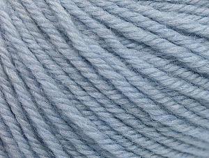 Fiber Content 100% Merino Wool, Light Blue, Brand ICE, Yarn Thickness 4 Medium  Worsted, Afghan, Aran, fnt2-60244