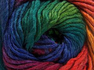 Fiber Content 50% Acrylic, 50% Wool, Rainbow, Brand ICE, Yarn Thickness 5 Bulky  Chunky, Craft, Rug, fnt2-60250