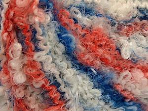 Fiber Content 70% Acrylic, 30% Polyamide, White, Salmon, Brand ICE, Blue, fnt2-60333