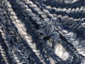 Fiber Content 40% Wool, 30% Polyamide, 30% Acrylic, White, Brand ICE, Blue Shades, fnt2-60349