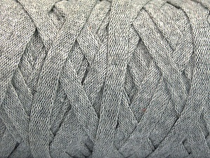 Fiber Content 100% Recycled Cotton, Light Grey, Brand ICE, Yarn Thickness 6 SuperBulky  Bulky, Roving, fnt2-60397