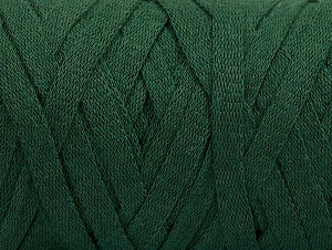 Fiber Content 100% Recycled Cotton, Brand ICE, Dark Green, Yarn Thickness 6 SuperBulky  Bulky, Roving, fnt2-60401