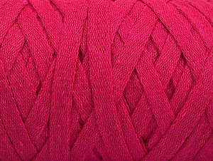 Fiber Content 100% Recycled Cotton, Brand ICE, Fuchsia, Yarn Thickness 6 SuperBulky  Bulky, Roving, fnt2-60403