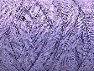 Fiber Content 100% Recycled Cotton, Lilac, Brand ICE, Yarn Thickness 6 SuperBulky  Bulky, Roving, fnt2-60405