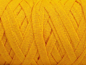 Fiber Content 100% Recycled Cotton, Yellow, Brand ICE, Yarn Thickness 6 SuperBulky  Bulky, Roving, fnt2-60407