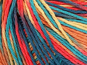 Fiber Content 100% Acrylic, Turquoise, Salmon, Jeans Blue, Brand ICE, Gold, Yarn Thickness 2 Fine  Sport, Baby, fnt2-60463
