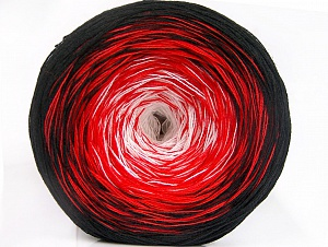 Fiber Content 50% Acrylic, 50% Cotton, White, Red, Brand ICE, Black, Yarn Thickness 2 Fine  Sport, Baby, fnt2-60471