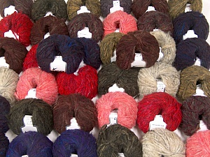 Kan Mohair This mixed lot includes a total of 2000 gr (70.5 oz.) yarn. There is no standard for ball weight. Also disregard any information on the labels. You will get what you see in the photo. Fiber Content 45% Acrylic, 25% Wool, 20% Mohair, 10% Polyamide, Brand ICE, fnt2-60779