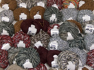Winter Yarns This mixed lot includes a total of 2000 gr (70.5 oz.) yarn. There is no standard for ball weight. Also disregard any information on the labels. You will get what you see in the photo. Brand ICE, fnt2-60797