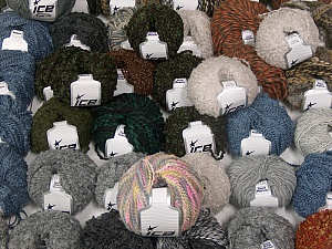 Winter Yarns This mixed lot includes a total of 2000 gr (70.5 oz.) yarn. There is no standard for ball weight. Also disregard any information on the labels. You will get what you see in the photo. Brand ICE, fnt2-60799