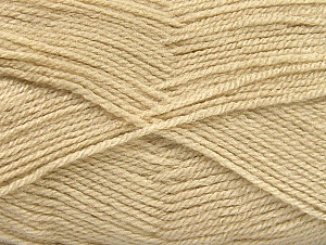 Fiber Content 100% Acrylic, Light Beige, Brand ICE, Yarn Thickness 3 Light  DK, Light, Worsted, fnt2-60844